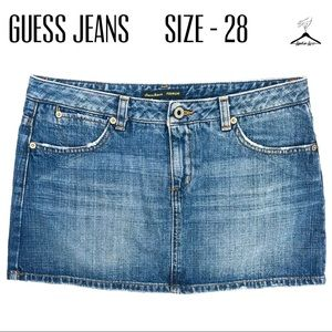 Guess Jeans Premium Acid Washed Mini Jean Skirt